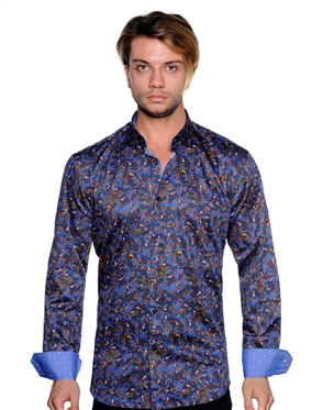 Navy Paisley Shirt