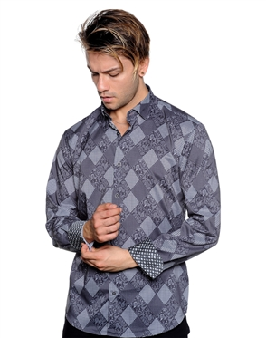 Black Diamond Shirt - Men Casual Shirt