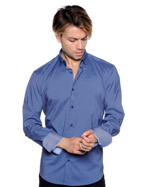 Classy Navy Sport Shirt - Men Casual Shirt