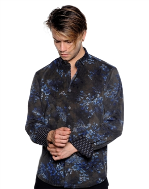 Elegant Lining Pattern Shirt - Men Casual Shirt
