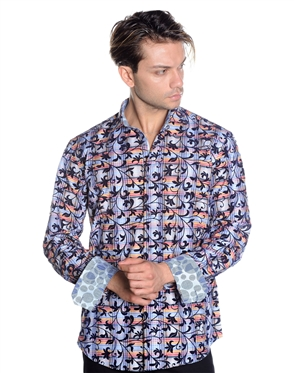 Stunning Multi Pattern Shirt - Men Casual Shirt