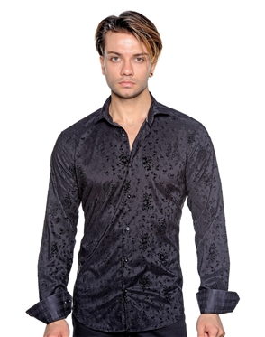 Trendy Black Printed Shirt - Men Casual Shirt