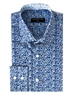 Slim Fit Blue Floral Button Down