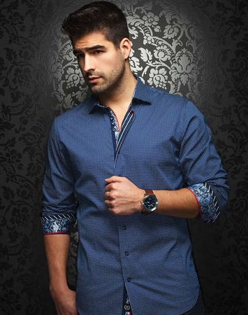 Luxury Dress Shirt - Navy