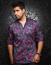 Designer Dress Shirt: Pablo Floral Fuchsia