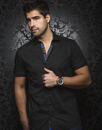 Luxury Black Sport Shirt