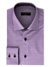 Men's Fashion Shirt - Purple Block Repeat Cube Pattern Shirt