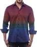 Designer Men's Shirt - Burgundy Sophisticated Wave Pattern Dress Shirt