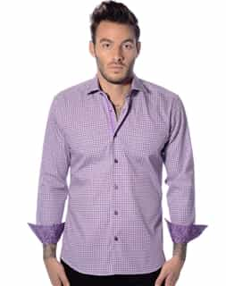 Purple White Checker Shirt