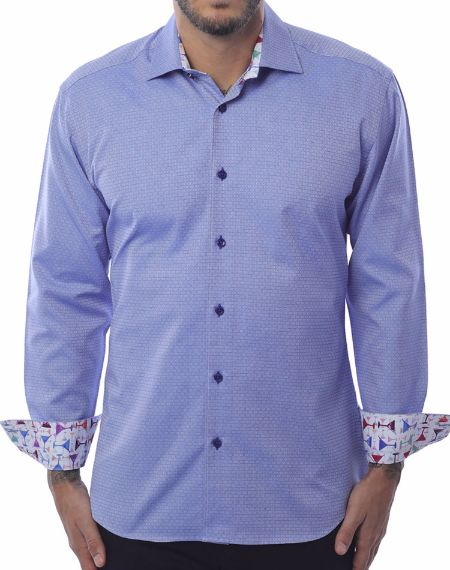 Mens Fashion Shirt - Blue Circle