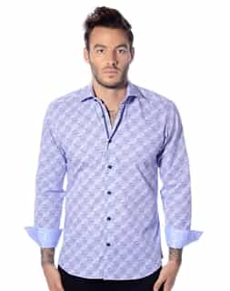 Blue Diagonal Stripe Shirt