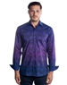 Designer Dress Shirt - Navy Purple Circle Check Dress Shirt