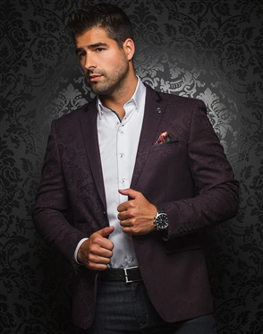 Luxury Men's Blazer - Pratt Burgundy