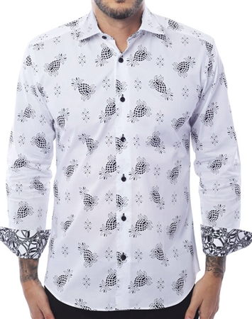 Luxury Dress Shirt - Black White