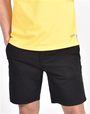 Black Slim Fit Chino Shorts|Eight-x Luxury Chino Shorts