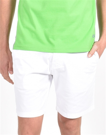 White Slim Fit Chino Shorts|Eight-x Luxury Chino Shorts