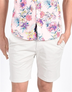 Biege Slim Fit Chino Shorts|Eight-x Luxury Chino Shorts