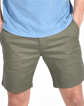 Olive Slim Fit Chino Shorts|Eight-x Luxury Chino Shorts
