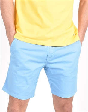 Blue Slim Fit Chino Shorts|Eight-x Luxury Chino Shorts