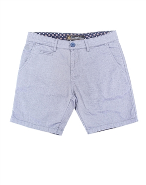 Gray Slim Fit Textured Shorts|Eight-x Luxury Slim Fit Shorts