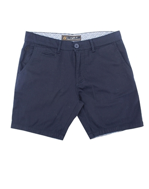 Navy Slim Fit Textured Shorts|Eight-x Luxury Slim Fit Shorts