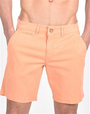 Orange Slim Fit Jaquard Shorts|Eight-x Luxury Slim Fit Shorts