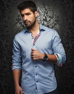 Designer Dress Shirt - Blue