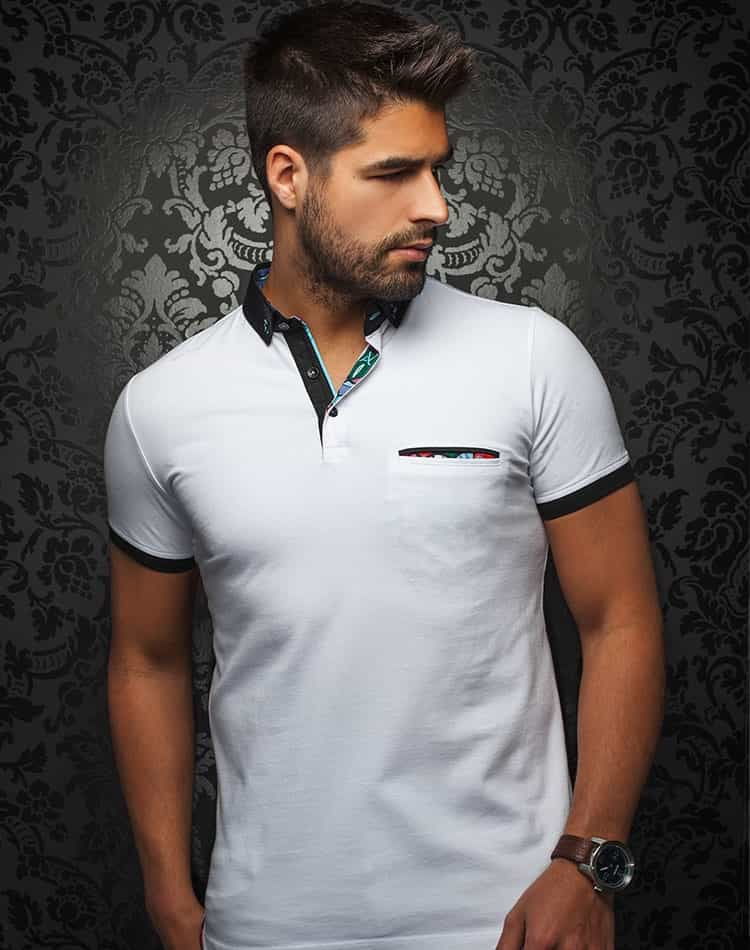 9314559d9892 Casual Shirt | White Polo | Fashion Polo Shirt | Au Noir