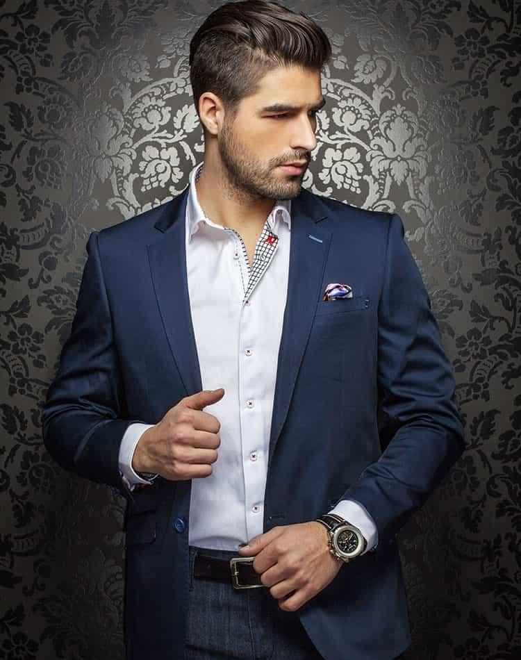 ad15603b1bd7 Luxury Navy Jacket: Designer Navy Sport Coat | Men Fashion Coats ...
