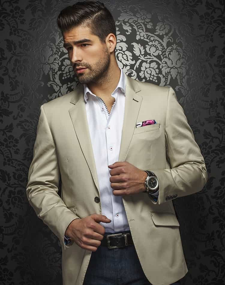 Luxury Beige Jacket: Designer Beige Sport Coat | Men Fashion Coats ...