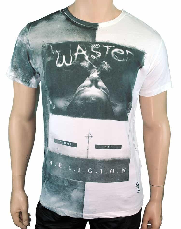 designer t shirt wasted t shirt religion clothing. Black Bedroom Furniture Sets. Home Design Ideas
