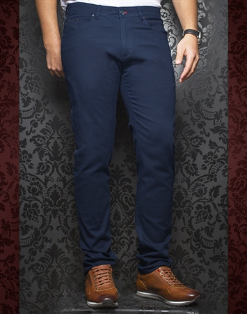Fashionable Dark Blue Pants - Remington Indigo