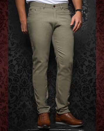 Fashionable Grey-Green Pants - Remington Sage
