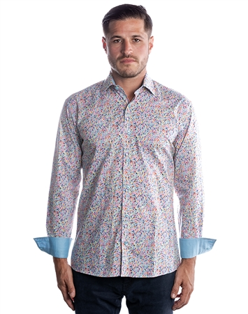 Men's Luxury Fashion Shirt - Colorful Turquoise Dress Shirt
