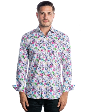 Luxury Dress Shirt - Multi-Dimensional Floral Print Woven