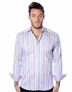 Multi-Stripe Button Down