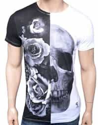 Religion Clothing Rose Skull