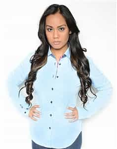 women dress shirt blue