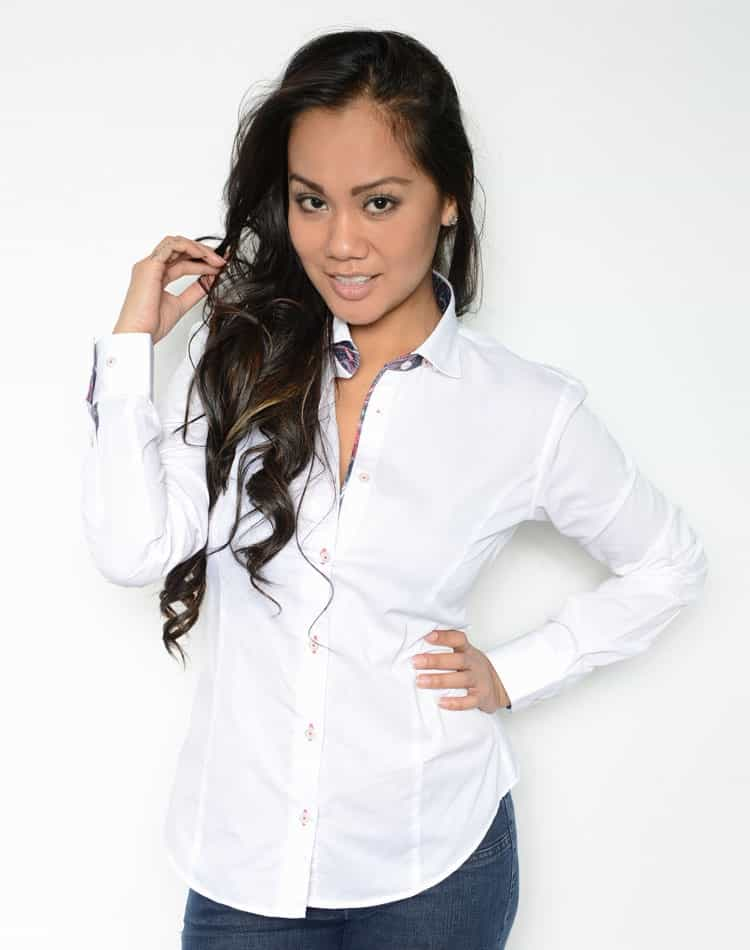 Ladies designer shirt white dress shirt lost in paris - Dress code rennes ...