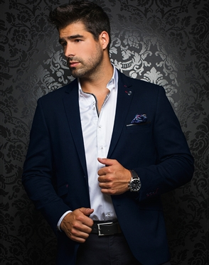 Elegant Men's Blazer - Navy Sport Coat