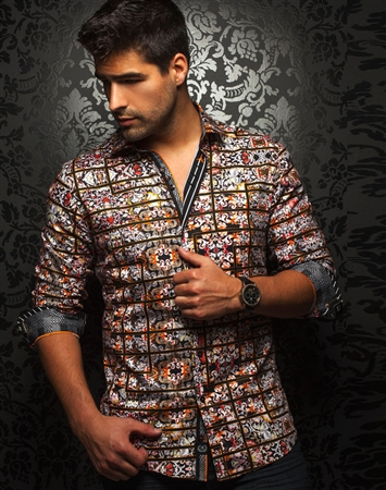 Shop Men | Black Multi. Color Fashion Shirt