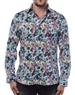 Designer Dress Shirt -  Luxury Autumn Leaves Print Shirt