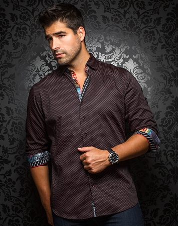 Sporty Dress Shirt - Segovia Black Red