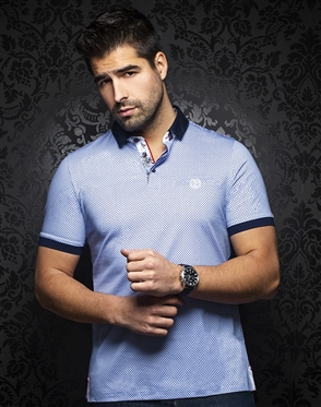 Au Noir Polo | Sierra Light Blue