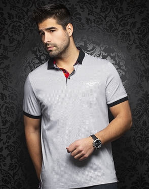 Au Noir Polo | Sierra White Grey