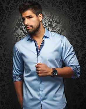 Designer Dress Shirt - Light Blue