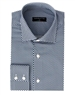 Luxury Sport Shirt - Navy Blue Water-Drop Print Woven