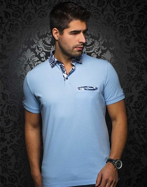 Sporty Light Blue Polo