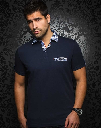 Sporty Navy Polo