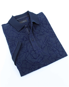 Majestic Navy Blue Mens Polo Shirt